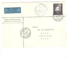 Liechtenstein Air Mail Cover C.Triesenberg 1938 To Bern Phila.Expo Aarau PR2423 - Poste Aérienne