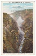 ROYAL GORGE FROM TOP - ARKANSAS RIVER CANYON COLORADO NEAR CANON CITY CO~ca 1920s postcard  [6001]