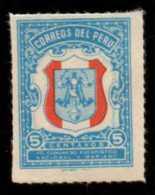 PERU - Scott #RA36 Postal Tax (*) / Mint NH Rouletted Stamp - Peru
