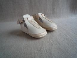 Chaussures Chaussons En Cuir Bébé Taille 19 Années 50-60. Voir Photos. - Shoes
