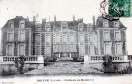 Cpa 1919 BRIARE, Château De Beauvoir, En Avant-garde Une Toile De Protection Sur L'entrée (39.34) - Briare