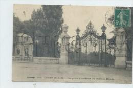 Champ-sur-Marne (77) : L´entrée Principale Du ChâteauMenier  Les Grilles Environ 1910 PF. - Unclassified