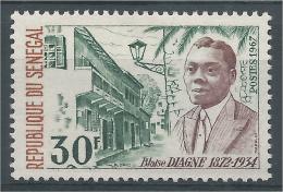 Senegal, Blaise Diagne, French-Senagalese Politician, 1967, MNH VF - Senegal (1960-...)