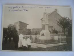 BOUVANCOURT INAUGURATION DU MONUMENT AUX MORTS NOVEMBRE 1927 - Francia