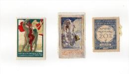 TORINO ESPOSIZIONE 1911 CHIUDILETTERA + MARCA ZANICHELLI + PROPAGANDA - Stickers