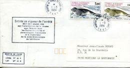 N°319 B -enveloppe TAAF -cachet Entrée En Vigueur Arr^été Sur L'interdiction De La Chasse Auxx Cétacés - Terres Australes Et Antarctiques Françaises (TAAF)