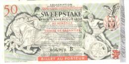 Billet Loterie - Croix Rouge Du Luxembourg - Sweepstake - Grand Prix D'Amérique 1936 - Billets De Loterie