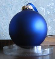 Boule De Noël Bleue Nuit Neuve - Noël