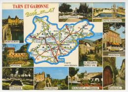 {41714} Tarn Et Garonne , Carte Et Multivues ; Castelsarrasin Montech Bruniquel Feneyrols Caussade Moissac Montauban - Landkaarten