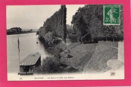 78 Yvelines Mantes La Seine Et L´ile Aux Dames, Péniche, Ed N.D. Phot - Mantes La Jolie