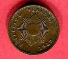2 CENTAVOS ( KM  221.1 )   TTB+  5 - Pérou