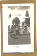 OUDJDA    CARTE  PHOTO   UNE  RUE  (  Minaret  En  Reparation  ) - Maroc