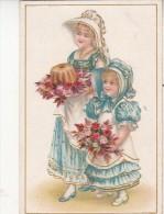 Petite Carte Goffrée - Belle Dame - Oude Documenten