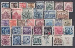 Böhmen Und Mähren Lot 33 Marken Gestempelt Mit Zdr. - Briefmarken