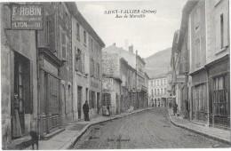 SAINT VALLIER (26) Rue De Marseille Cachet Militaire Croix Rouge Hopital Chabrillan Au Verso - Sin Clasificación