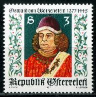 Österreich - Michel 1541 - ** Postfrisch - Oswald Von Wolkenstein - Wert: 0,70 Mi€ - 1945-.... 2ª República