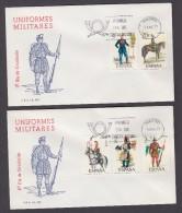 ESPAÑA 1977 DOS SOBRES PRIMER DIA MADRID UNIFORMES MILITARES - 1931-Aujourd'hui: II. République - ....Juan Carlos I