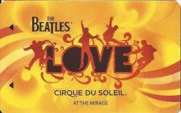 Mirage Casino Las Vegas Beatles Hotel Room Key Card (2 Lines Text Bottom Reverse Under Line) - Hotel Keycards