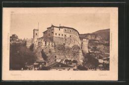 Cartolina Rovereto, Castello, Blick Zur Burg - Italia