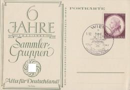 DR Sonderkarte 6 Jahre Sammlergruppe EF Minr.810 SST Wien 1.12.41 Mozart-Woche - Deutschland