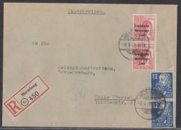 SBZ R-Brief Mif Minr.2x 192, 2x 216 Merseburg 6.4.49 - Sowjetische Zone (SBZ)