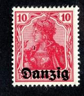5166 Y Danzig 1920  Michel # 2*  ( Cat. €.40 ) - Dantzig