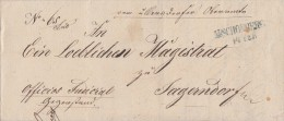 Brief L2 M. Schönberg 14.2.1849 Gel. Nach Jagerndorf - Deutschland