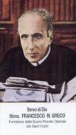 Santino SERVO DI DIO MONS. FRANCESCO GRECO - PERFETTO L79 - Religione & Esoterismo