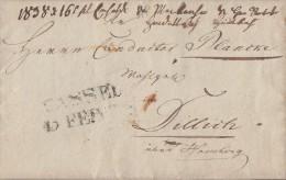 Brief L2 Cassel 13 Febr. Gel. Nach Dillich über Homburg 1838 Inhalt !!!!!!!!!! - Deutschland