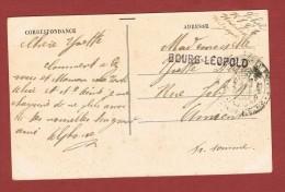 Bourg Léopold Op Kaart Naar Amiens (Frankrijk) 1919 - Postmark Collection
