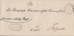 Preussen Brief K2 Naumburg A.d.S. 10.9. Gel. Nach Prezsch 2 Bpst. Inhalt Ansehen !!!!!!!!!!! - Prusse