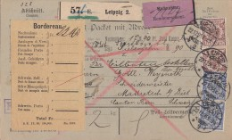DR Eilbote-NN-Paketkarte Mif Minr.2x 48, 2x 50 Leipzig 22.12.96 Gel. In Schweiz Perfins - Deutschland