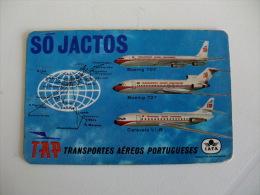 TAP Air Portugal Portuguese Pocket Calendar 1968 - Calendriers