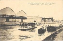 CAPELLE AU BOIS (Belgique) Canal Peniches Usine Eternit - Kapelle-op-den-Bos