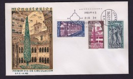 ESPAÑA 1973 SOBRE PRIMER DIA MADRID MONASTERIO DE SANTO DOMINGO DE SILOS - 1931-Aujourd'hui: II. République - ....Juan Carlos I