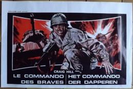Affiche Cin�ma. LE COMMANDO DES BRAVES.  Craig Hill.  Film Espagnol.   1970.