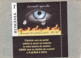 Tears Angel,2015,MNH,** STAMPS + LABELS,ROMANIA. - 1948-.... Républiques