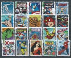 Etats-Unis: Obl. 20 Timbres  COMICS; Spiderman; Hulk;X-men; Etc...  Série Complète - Comics