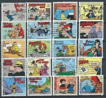 Etats-Unis: N° 2421/40 Obl. COMICS; Prince Vaillant; Flash Gordon, Dick Tracy; ..... - Bandes Dessinées