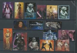 Etats-Unis: Obl.  16 Timbres: STARS WARS -Guerre Des  étoiles: Darkfador, Jedi; .... Série + 1 - Kino