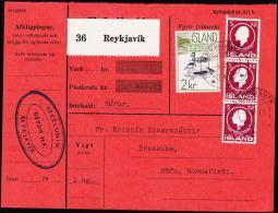 1959. Fauna. 2 Kr. Birds. Fylgibréf. Postkrafa 411,05 Kr. REYKJAVIK 9.XI.61. (Michel: 337) - JF181006 - Nuovi