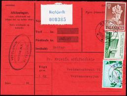 University Of Island. 10 Kr. Perf. Fylgibréf. Postkrafa 246,20 Kr. REYKJAVIK 3.VIII.63. (Michel: 358A) - JF181037 - 1944-... Republik