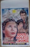 Affiche Cin�ma.    SOUS LE SOLEIL DE ROME.  Nancini - Blando - Colisano - Monaldi.  1948.