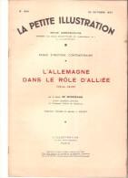 La Petite Illustration N� 844 - 30 octobre 1937 - Baron de Werkman - L'Allemagne dans le r�le d'alli�e (1914-1918)