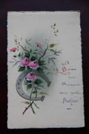 Carte Peinte : Fer à Cheval Et Roses - Non Classés