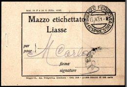 Mazzo Etichettato Liasse Pour Montecarlo. Cachet Firenze Ferrovia Espressi Du 15/05/1931 - Titres De Transport