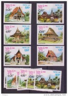 LAOS   NON DENT/IMPERF +DENT  BOUDDHISME PAGODES   Yvert  N° 418/23  **MNH - Laos