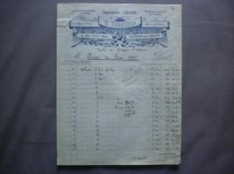 AVESNES SUR HELPE G.GENESTIN IMPRIMERIE LIBRAIRIE  13 RUE VICTOR HUGO FACTURE DE 1925 - Printing & Stationeries