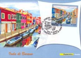 Italia 2015 FDC Maximum Card Turismo: Isola Di Burano - Holidays & Tourism