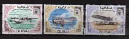 Dubai ° - 1969 - Sevice Postal.  3 Valeur.  Gommé Oblitéré.   Vedi Descrizione - Dubai